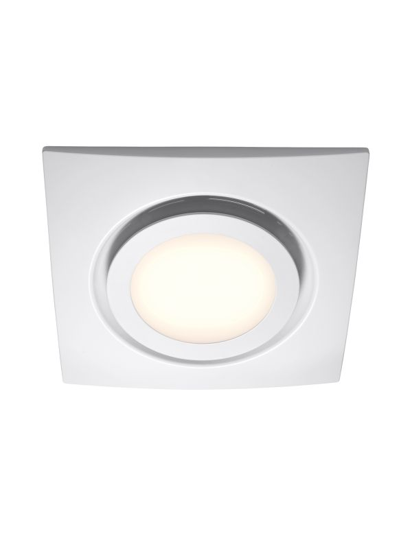 White Exhaust Fan With Led Light Beacon Lighting